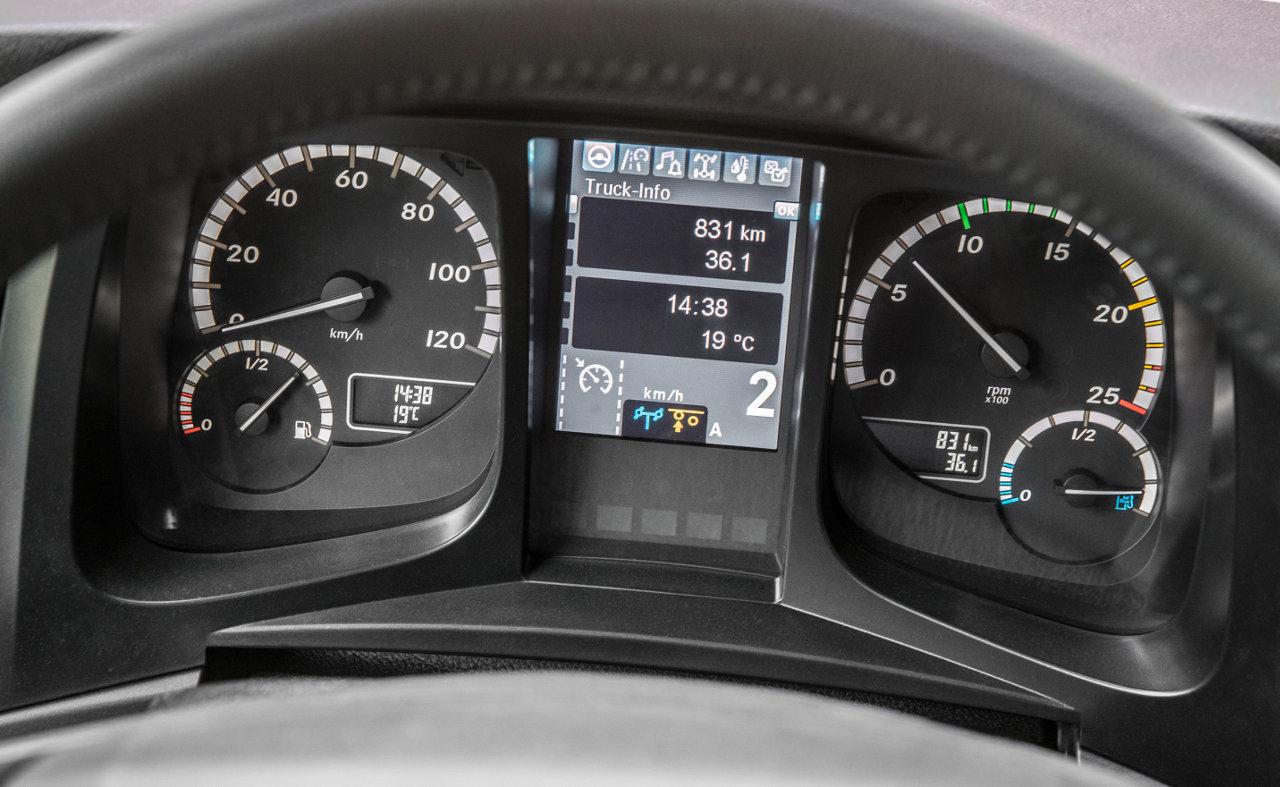 A központi kijelző alján a kis kék ikon jelzi, hogy a HAD készen áll a működésre