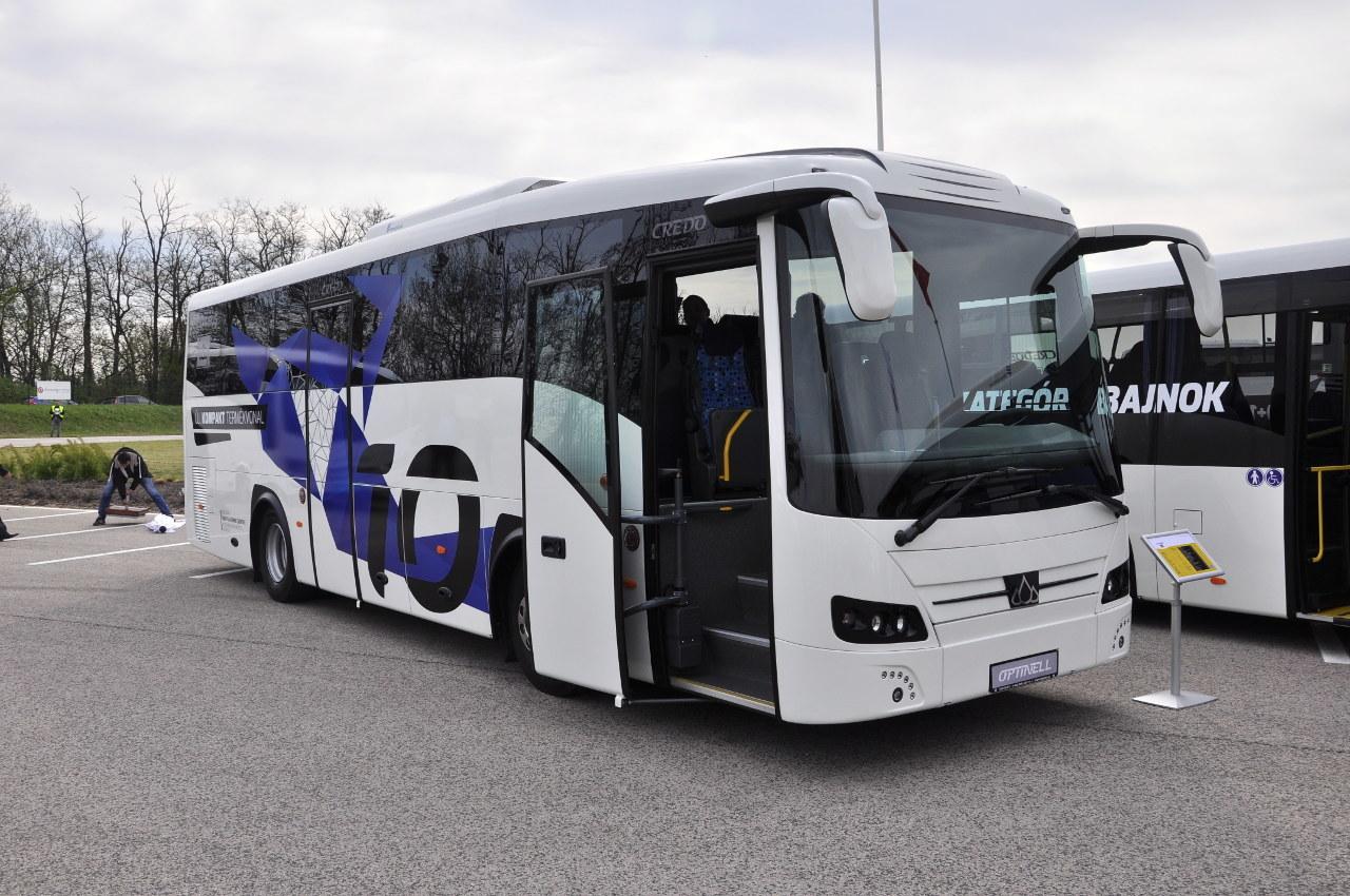 A Credo Optinell 10 kompakt távolsági busz a tavalyi BUSEXPO kiállításon tartotta a premierjét