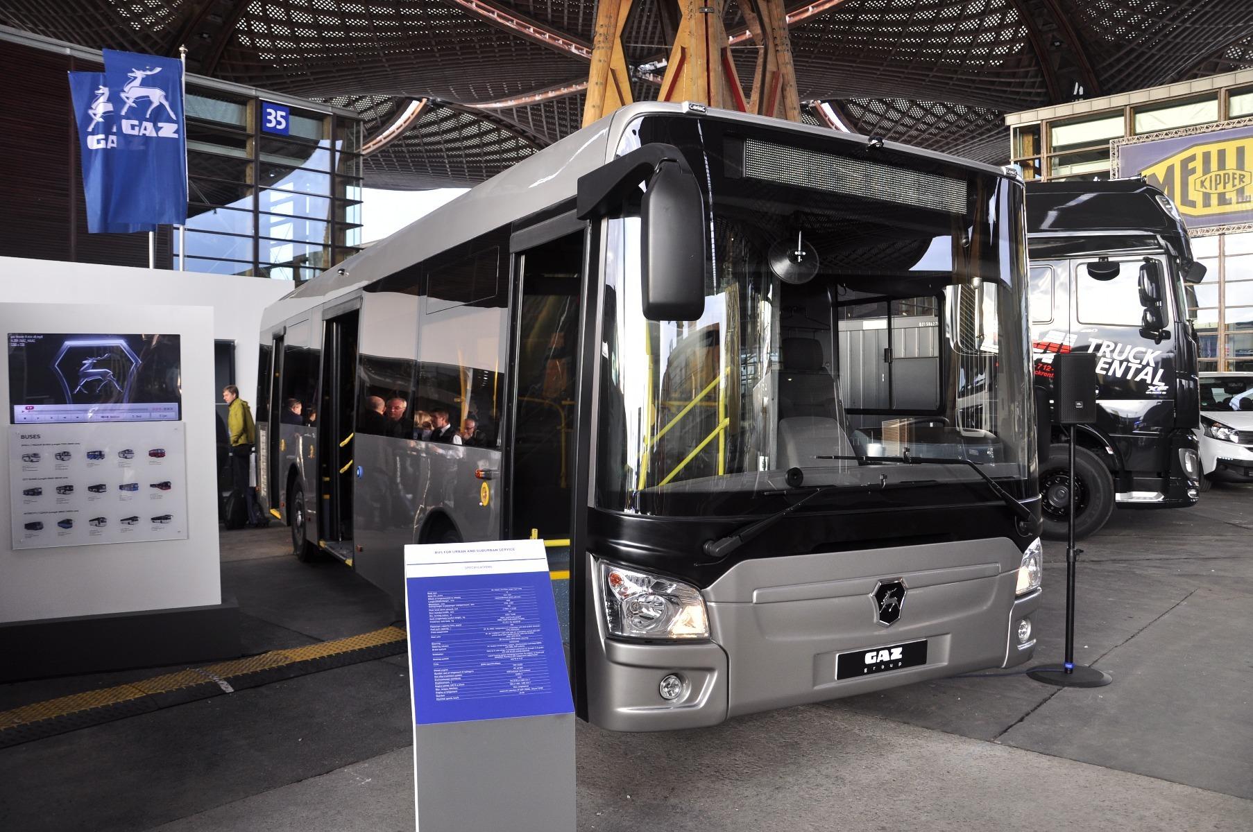 A GAZ 9,5 méteres, alacsonypadlós városi busza 75 férőhelyes
