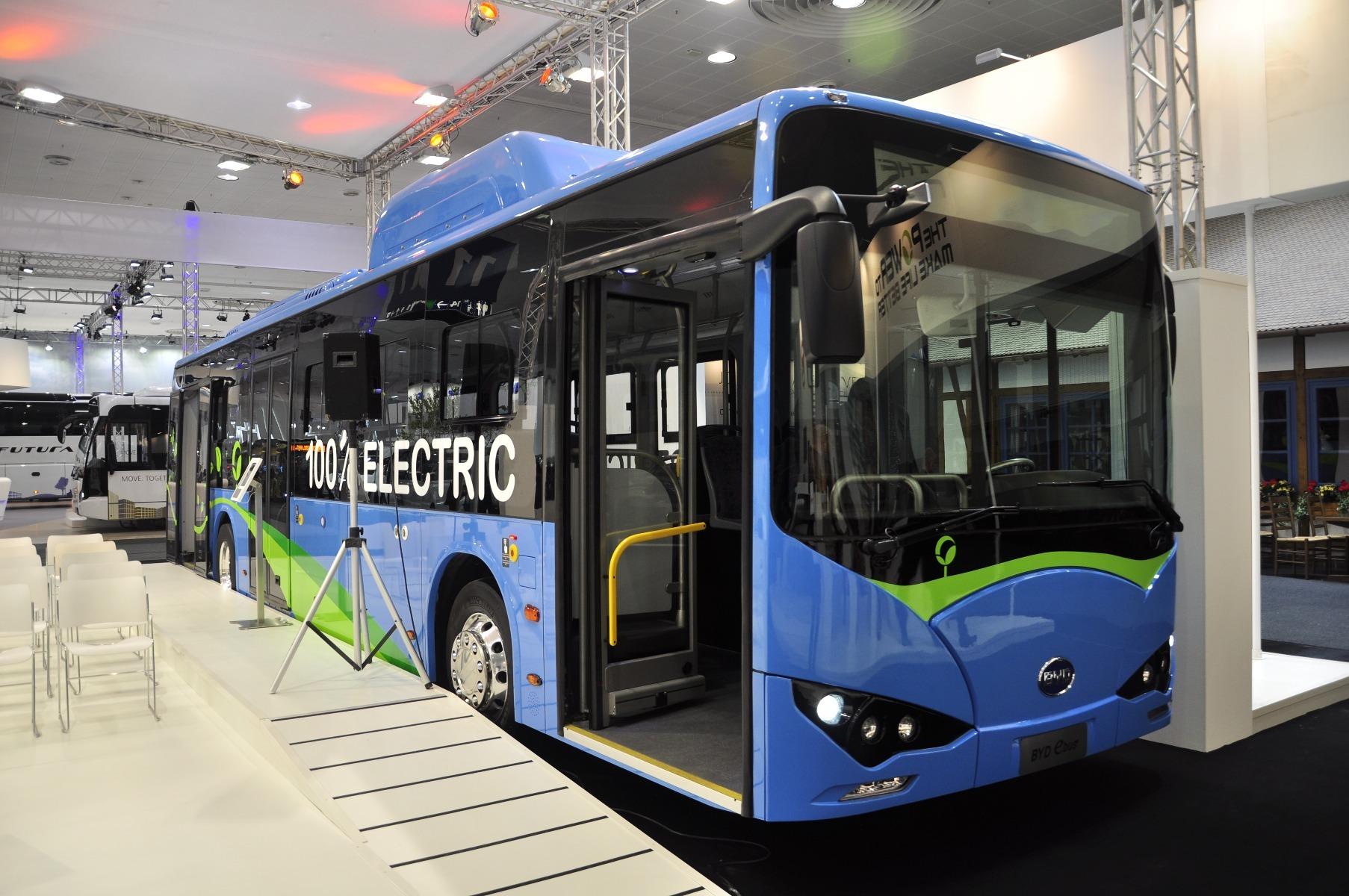 A BYD 12 méteres elektromos városi buszának hatótávolsága 260 kilométer