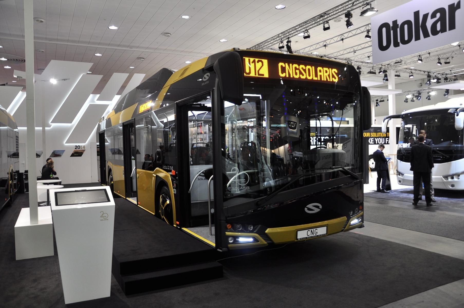 A Solaris Urbino 12 CNG hátuljában 320 lóerős, Euro 6-os, sűrített földgázzal üzemelő Cummins erőforrás dolgozik