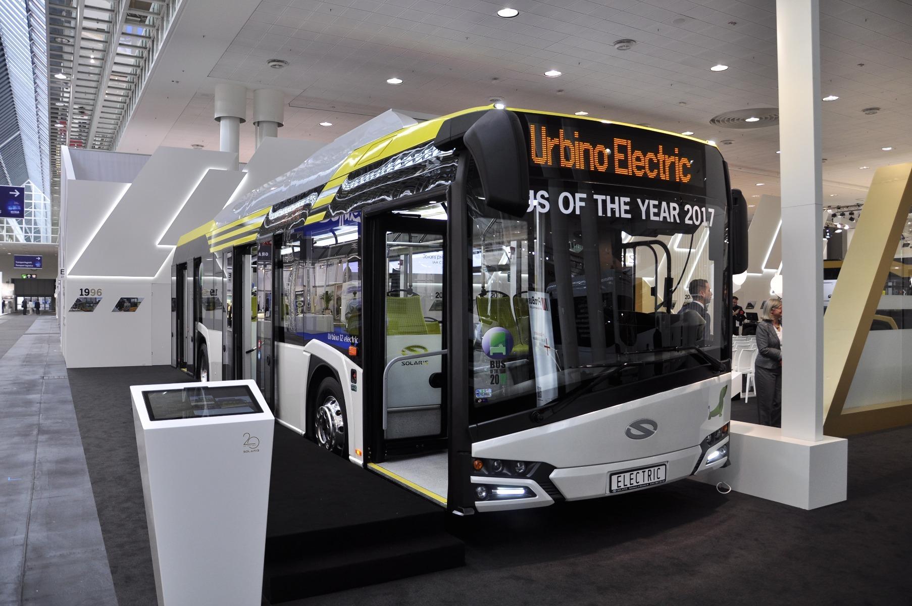 A Solaris Urbino 12 electric modell az IAA-n nyerte el a 2017-es Év Autóbusza díjat