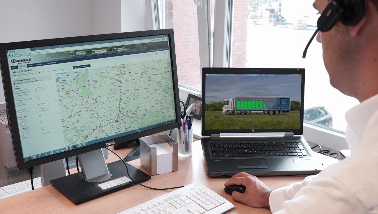 A Krone Telematics Smart Scan intelligens raktérfigyelő rendszer azonnali és pontos tájékoztatást nyújt arról, hogy az adott jármű rakterében mennyi rakomány milyen elhelyezkedésben található