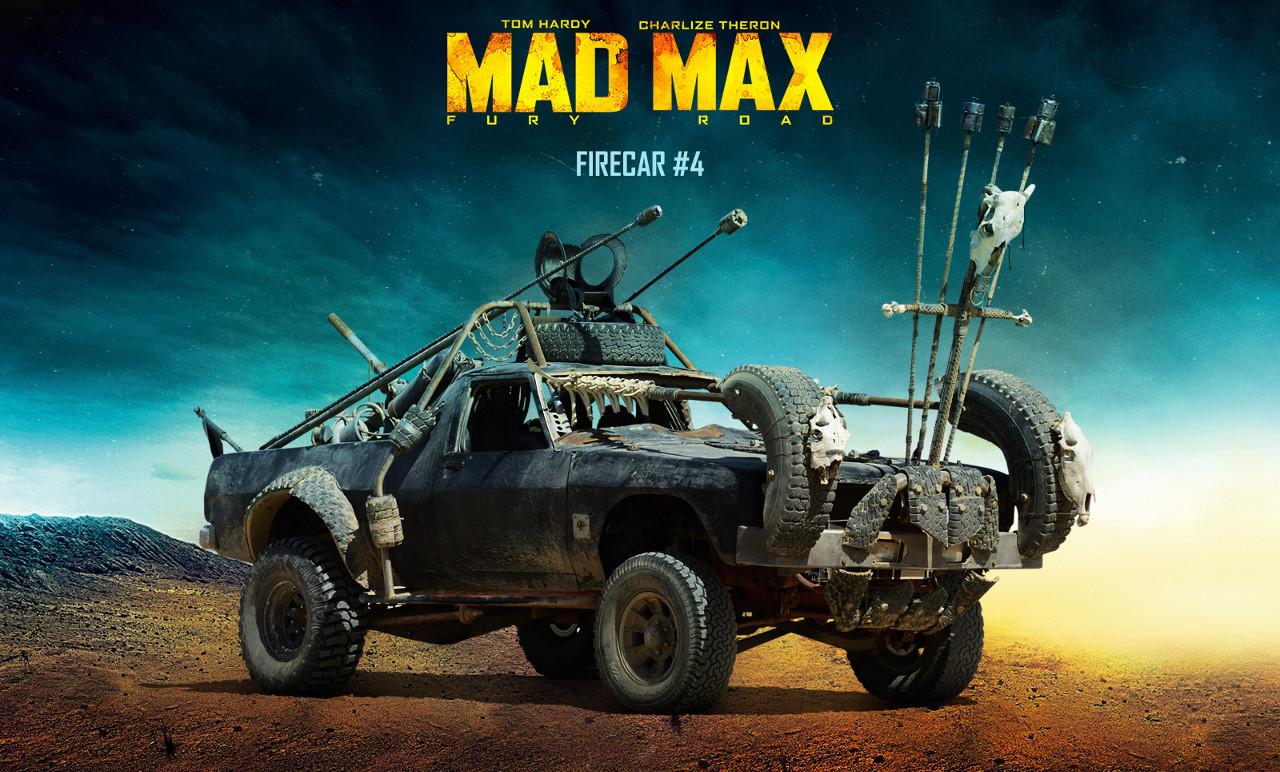 """A Mad Max eredetijét még Ausztráliában forgatták a helyi járműparkot felhasználva. Ehhez a tényhez nyúlt vissza """"A harag útja"""" is, hiszen a Holden FJ mellett egy 1970-es HZ UTE is helyet kapott a filmben. Platóján egy lángszóró érdemesíti a filmbeli nevére"""