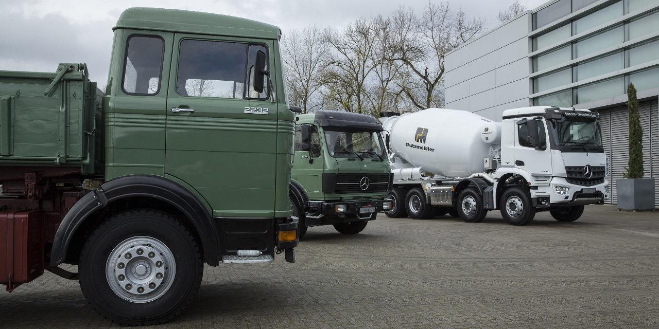 Mercedes-Benz öreg építőipari teherautók