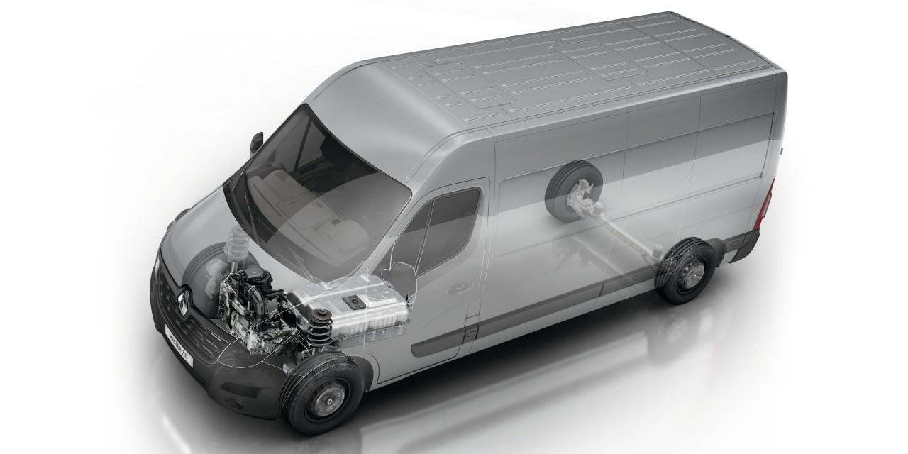 A Master Z.E. 33 kilowattórás lítiumion-akkumulátorának tömege 255 kilogramm