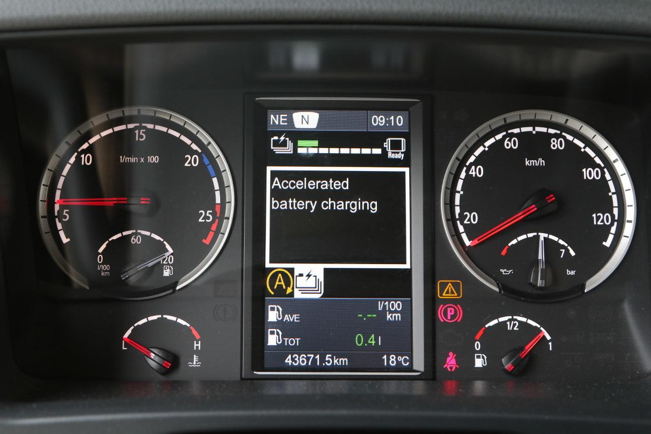 Gyorsított akkumulátortöltés bekapcsolva – mutatja a kijelző felirata és piktogramja