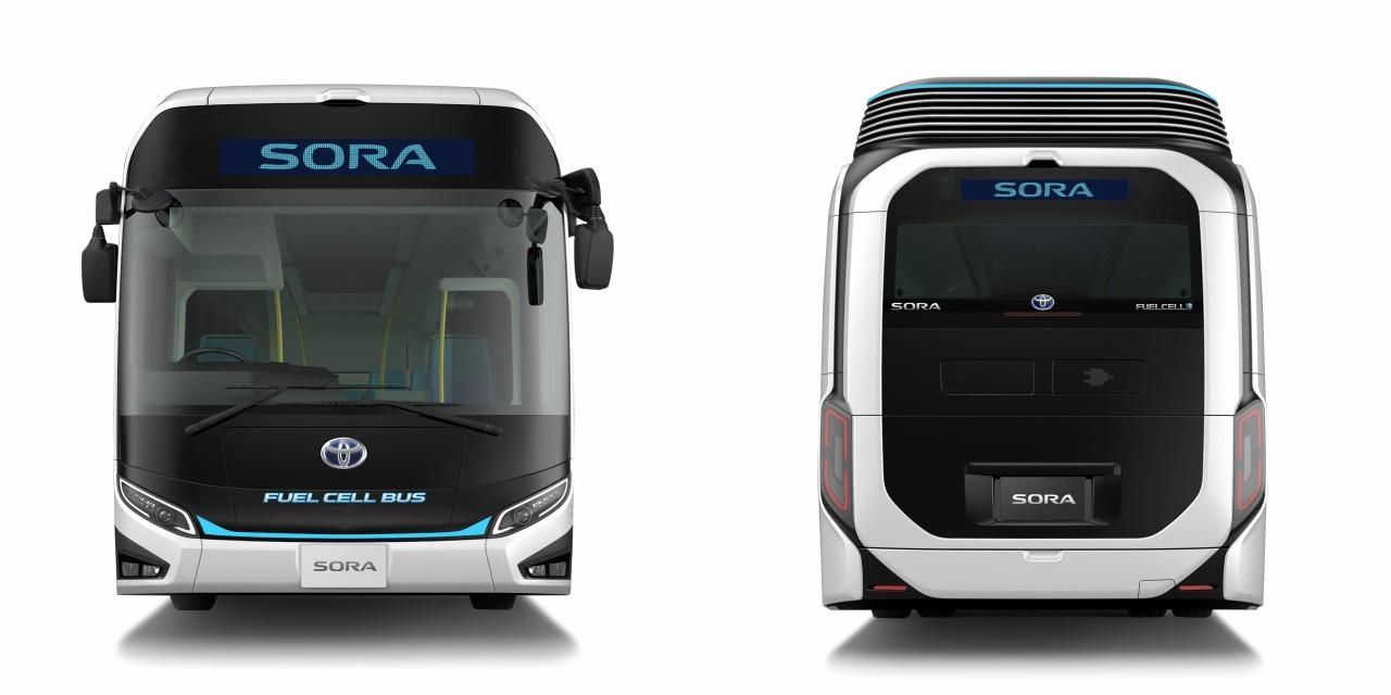Módosított megjelenésével még inkább kitűnik hagyományos társai közül a Toyota üzemanyagcellás Sora autóbusza