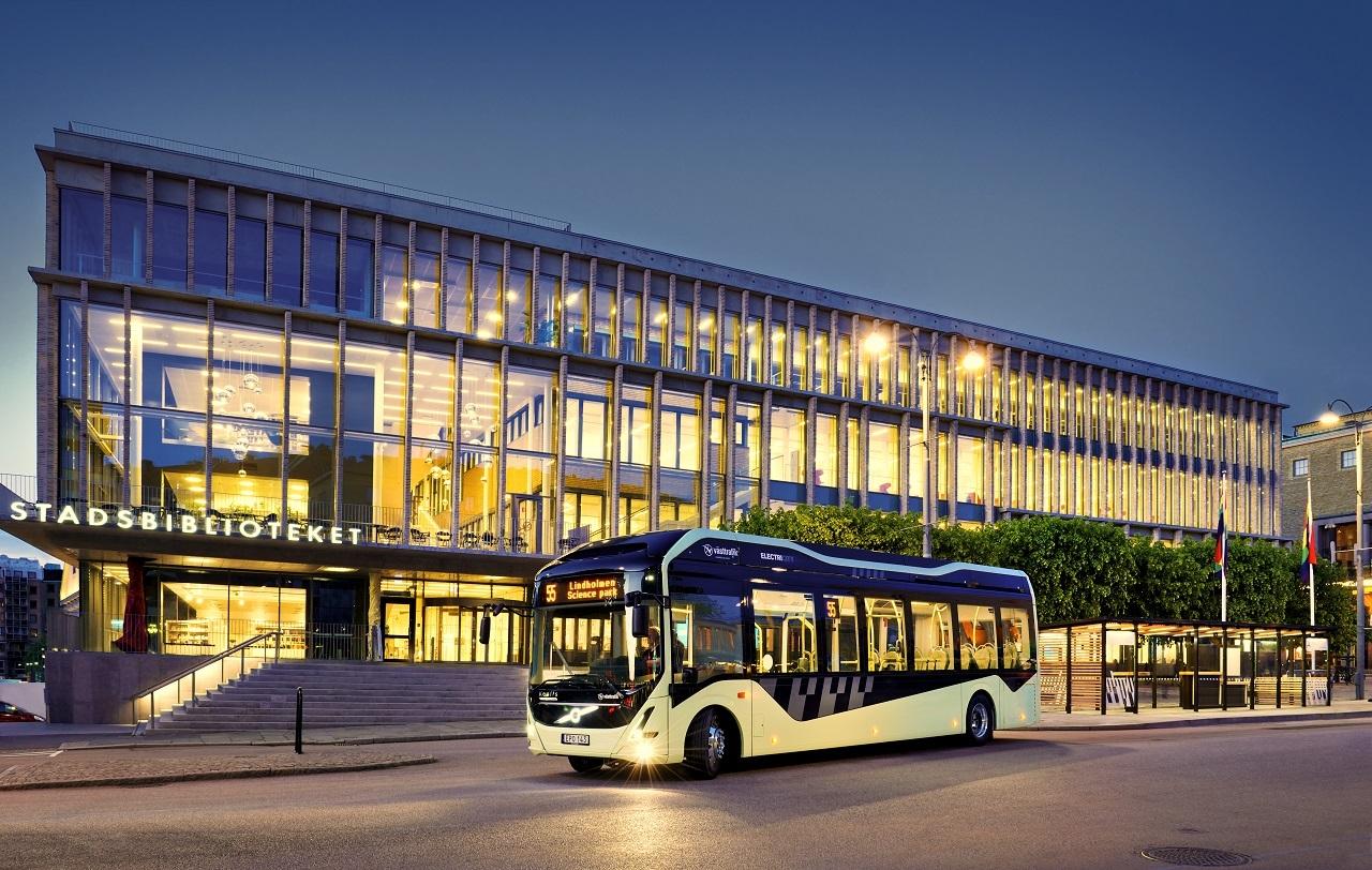 Göteborg belvárosában néhány vonalon már csak elektromos hajtású buszok közlekednek